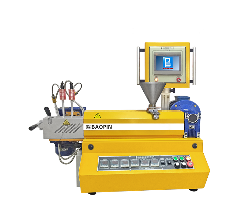 LABORATORY SINGLE SCREW EXTRUDER/ FILTRABILITY TEST/PLC CONTROL/BENCH-TOP TYPE